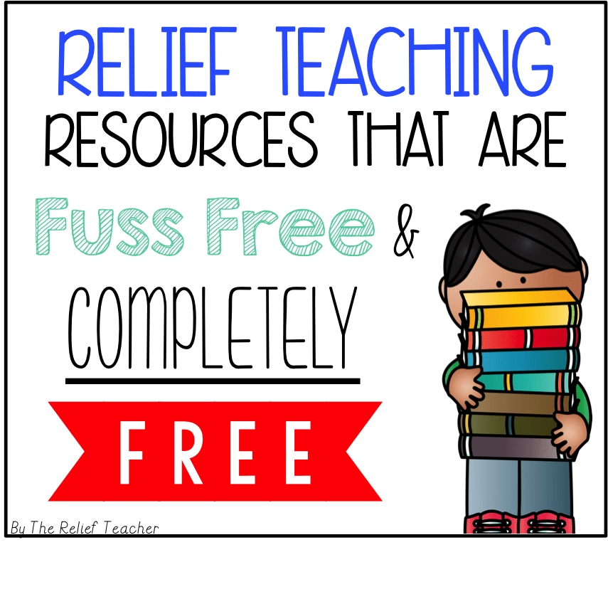 Relief Teaching Resources that are FUSS FREE and