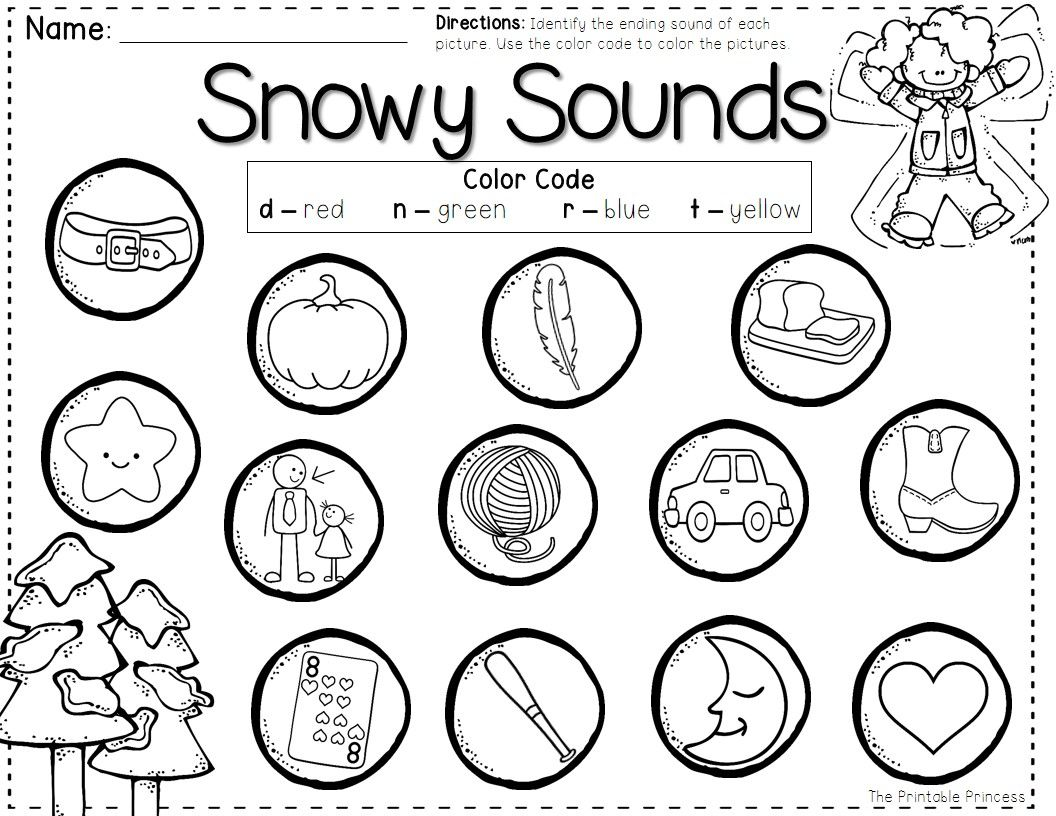 Ending Sounds Cut And Paste Kindergarten Worksheets Ending Best Free Printable Worksheets