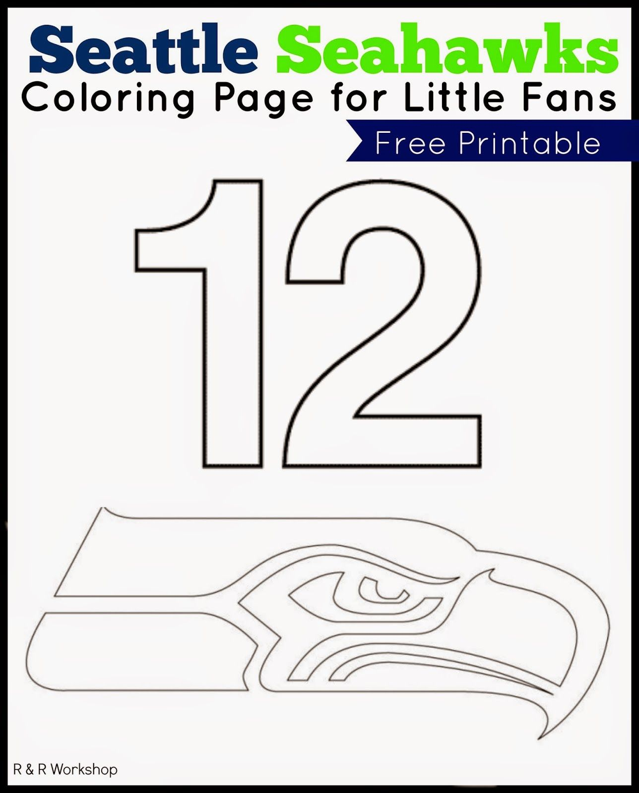 Seahawks 12th Man Coloring Pages