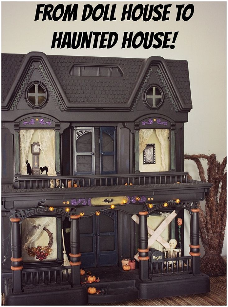 Easy Halloween Decoration to Make Haunted houses, Doll