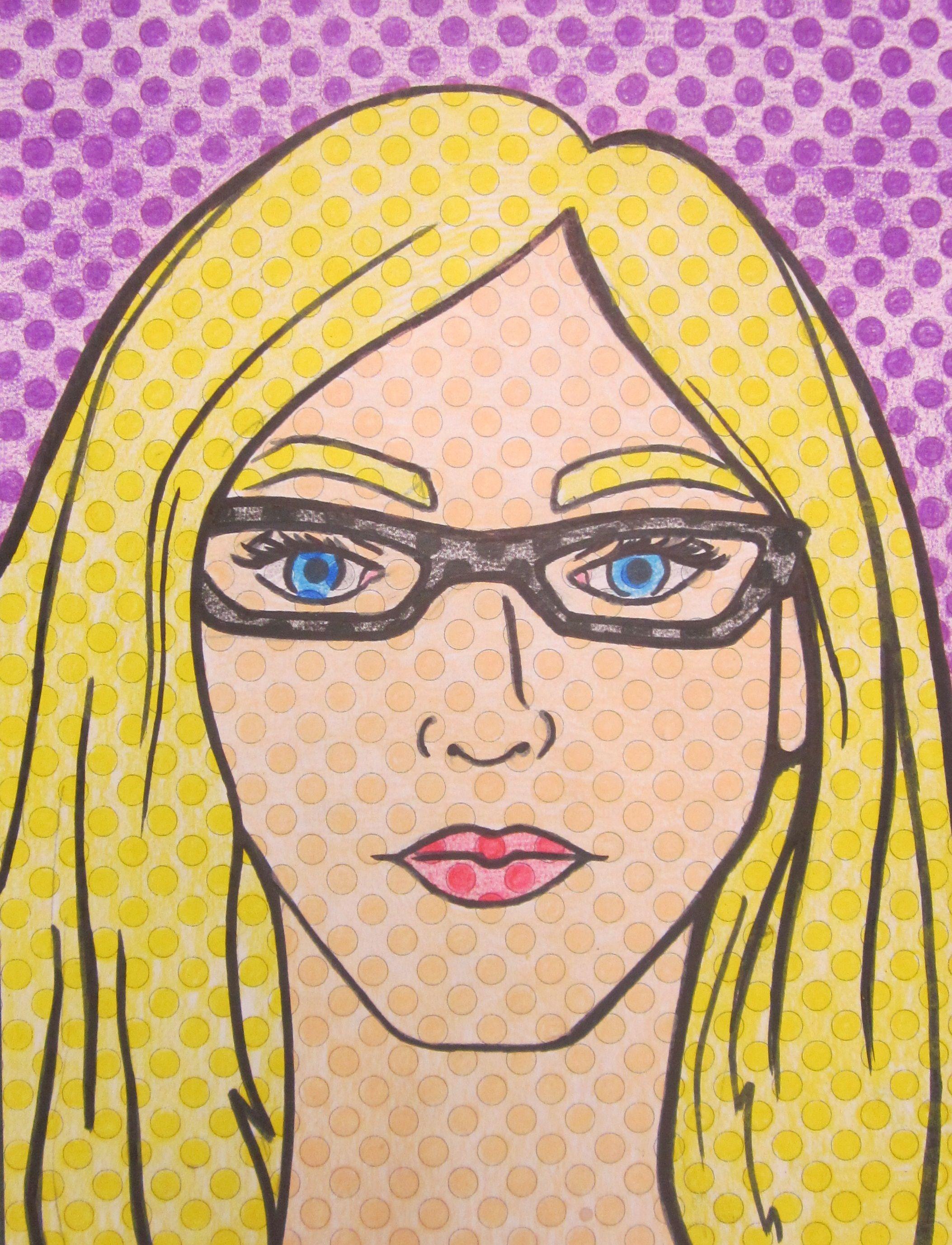 My Teacher Self Portrait Example Lichtenstein Pop Art