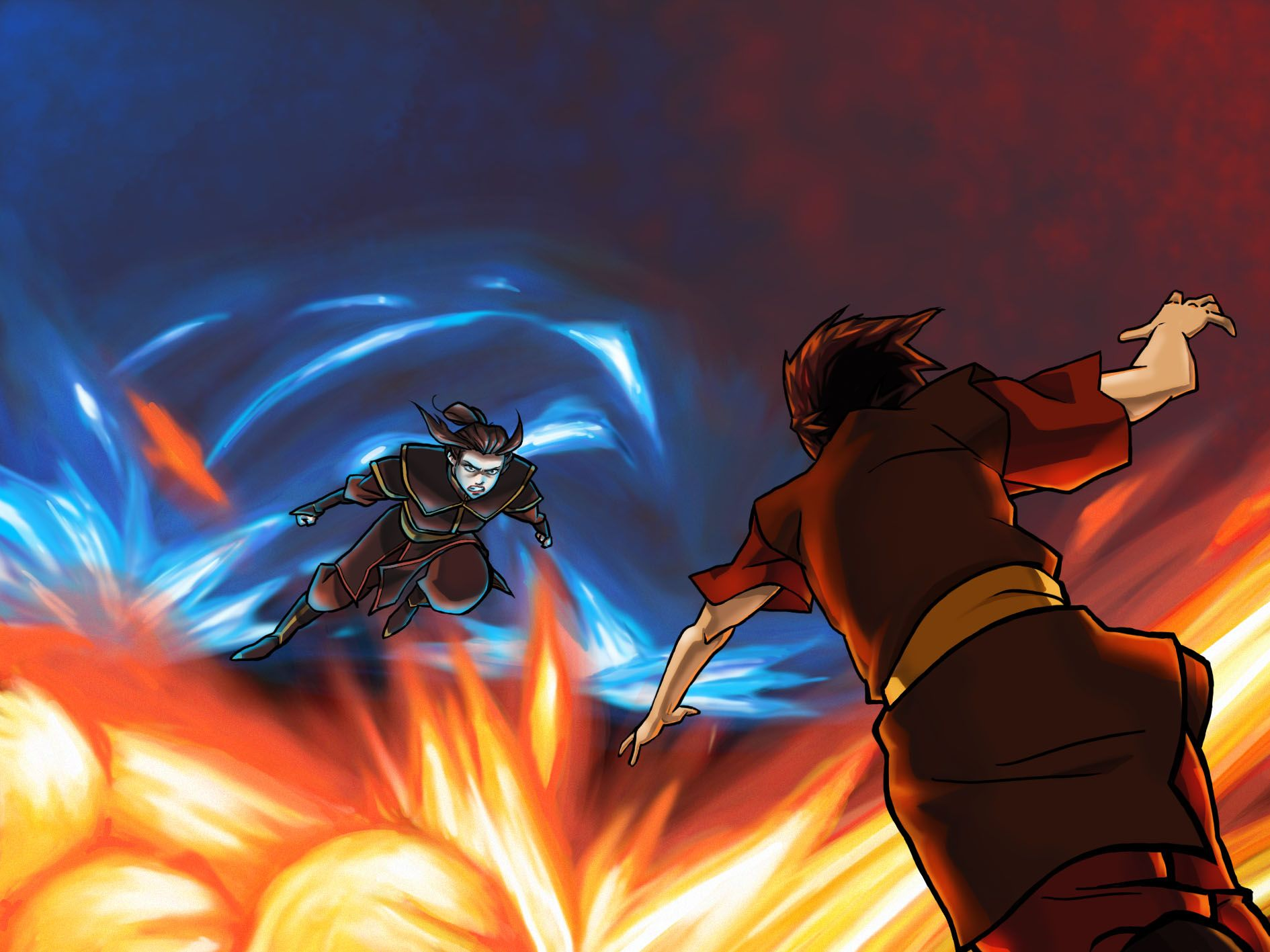 Admit it, Zuko and Azula's fight was cooler than Aang's