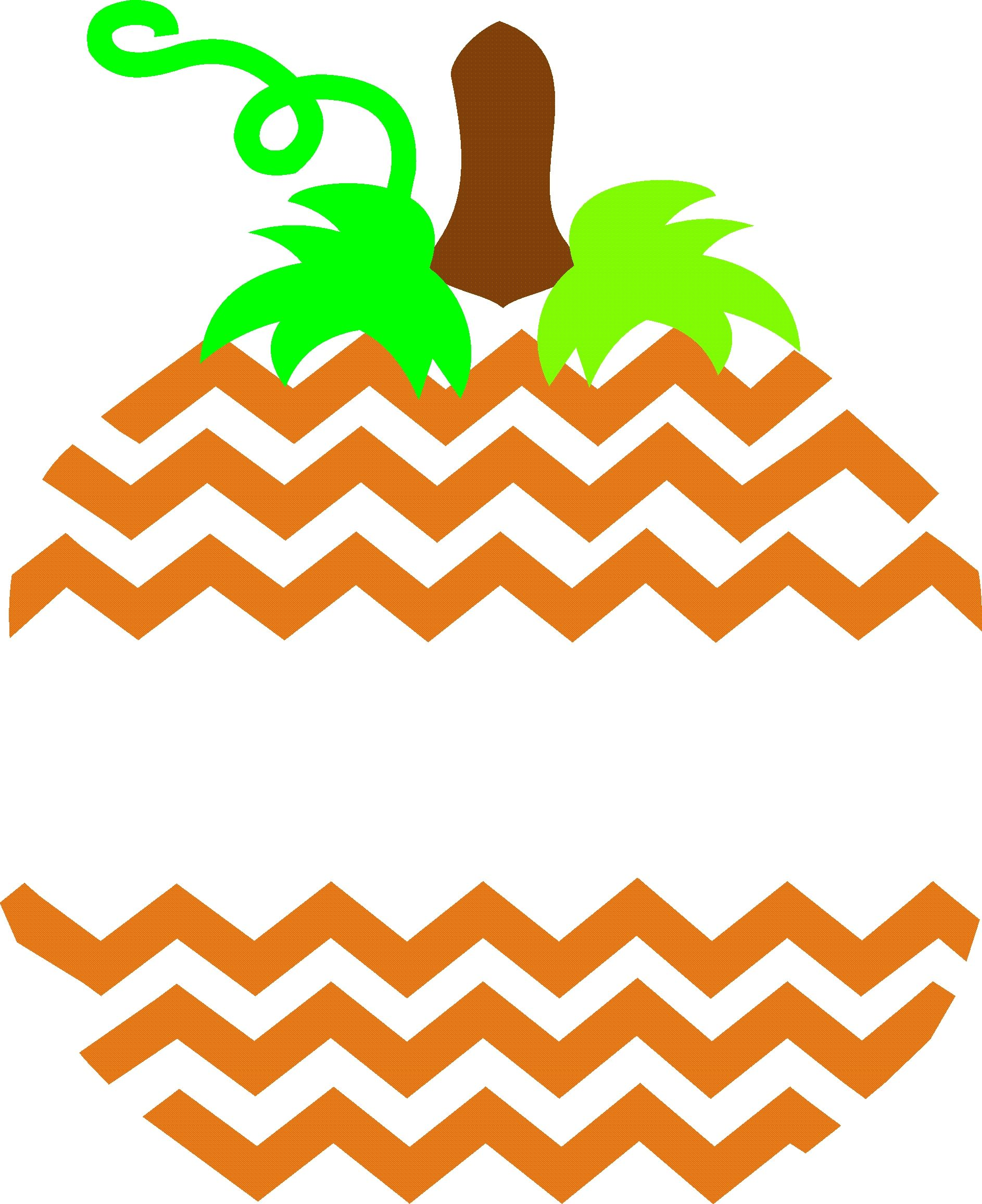 Chevron Striped Pumpkin SVG...The shape made me think it