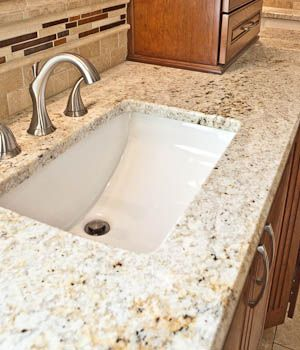 rectangular undermount sink bathroom granite countertop | new