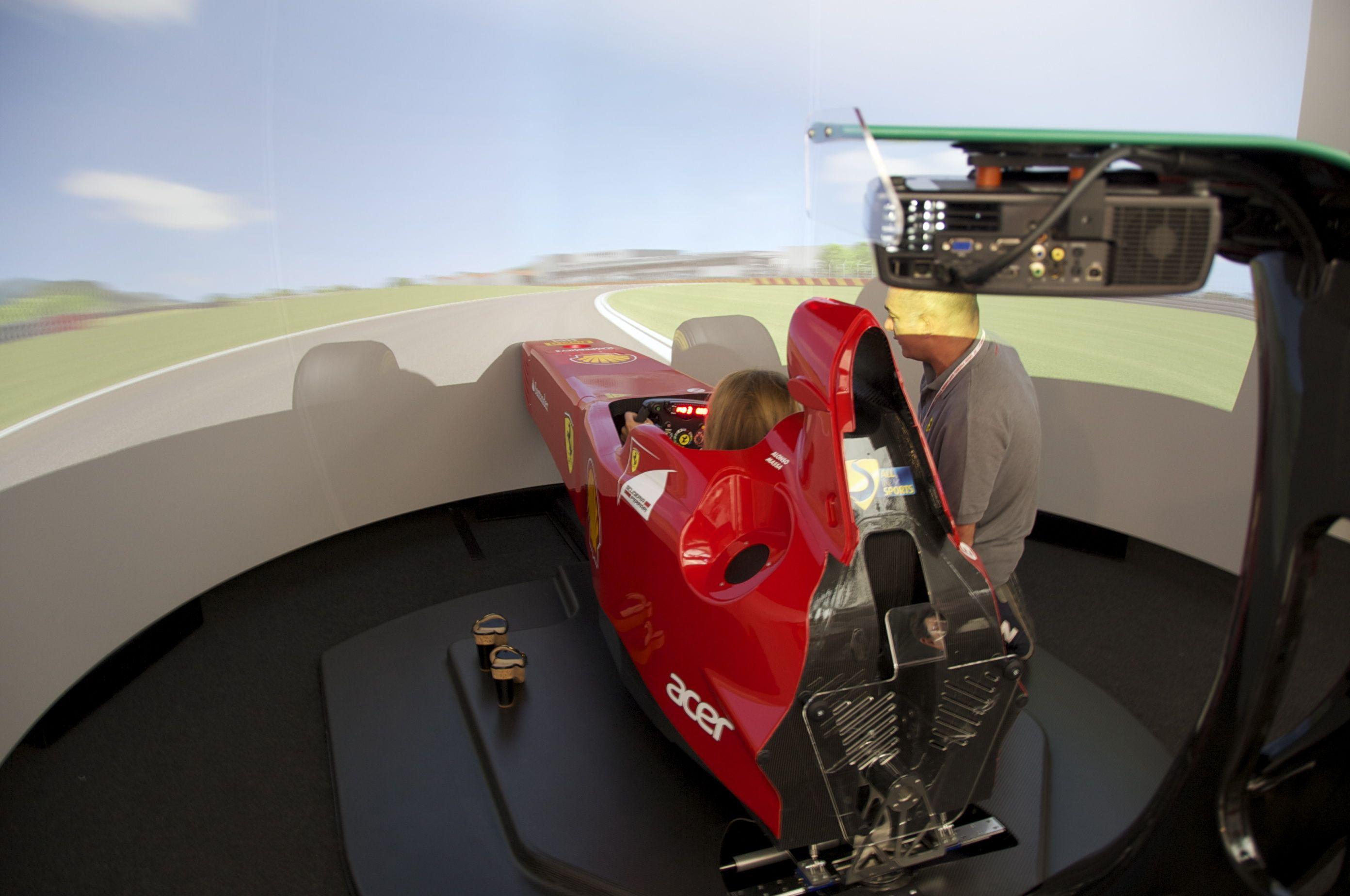 The Ferrari F1 Simulator at Manza GP Cars & Motorcycles