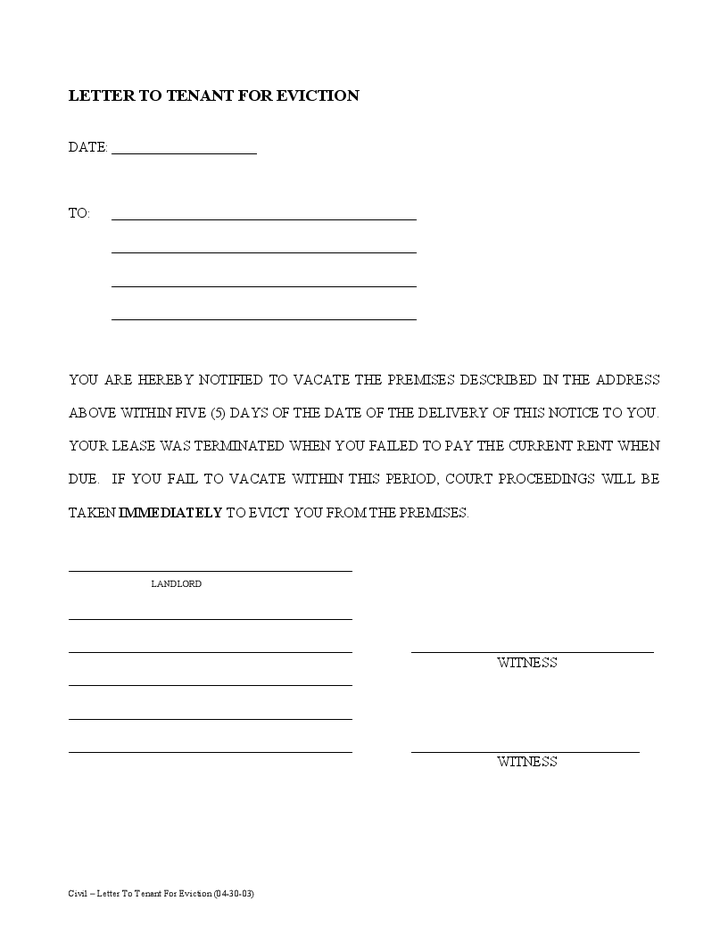 30 days notice template sample 30 day notice letter templates 7