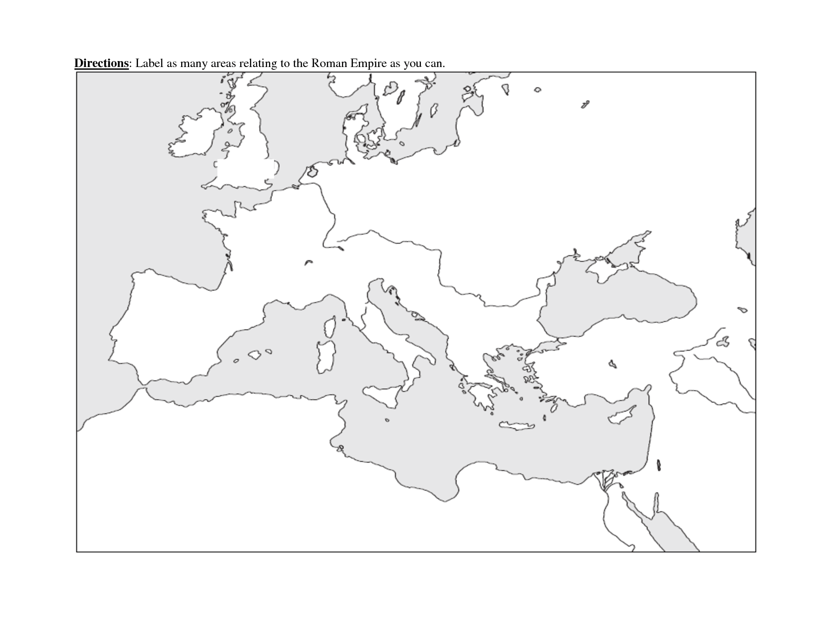 Blank Roman Empire Map