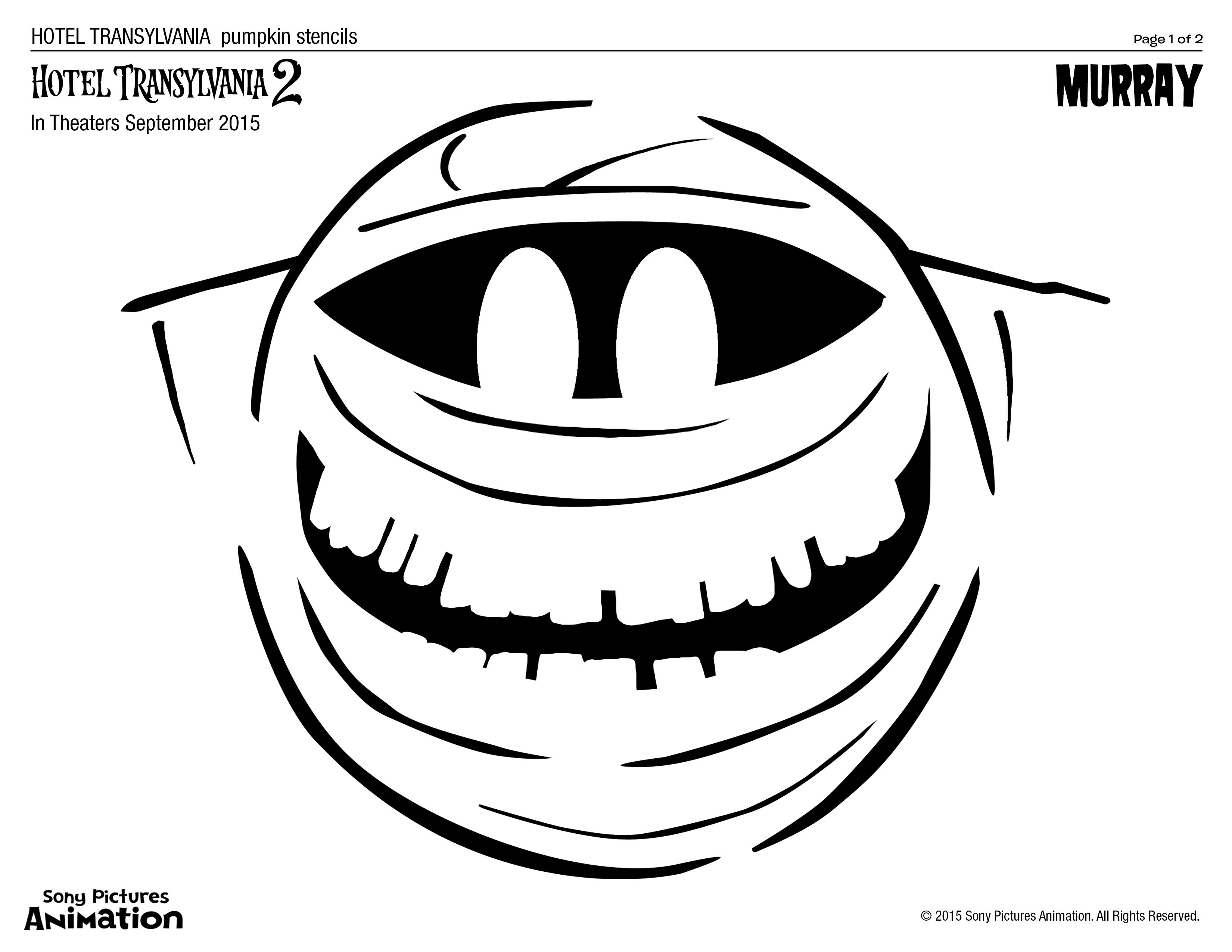Ready Set Carve Download Pumpkin Stencils Of All Your Favorite Hotel Transylvania Characters
