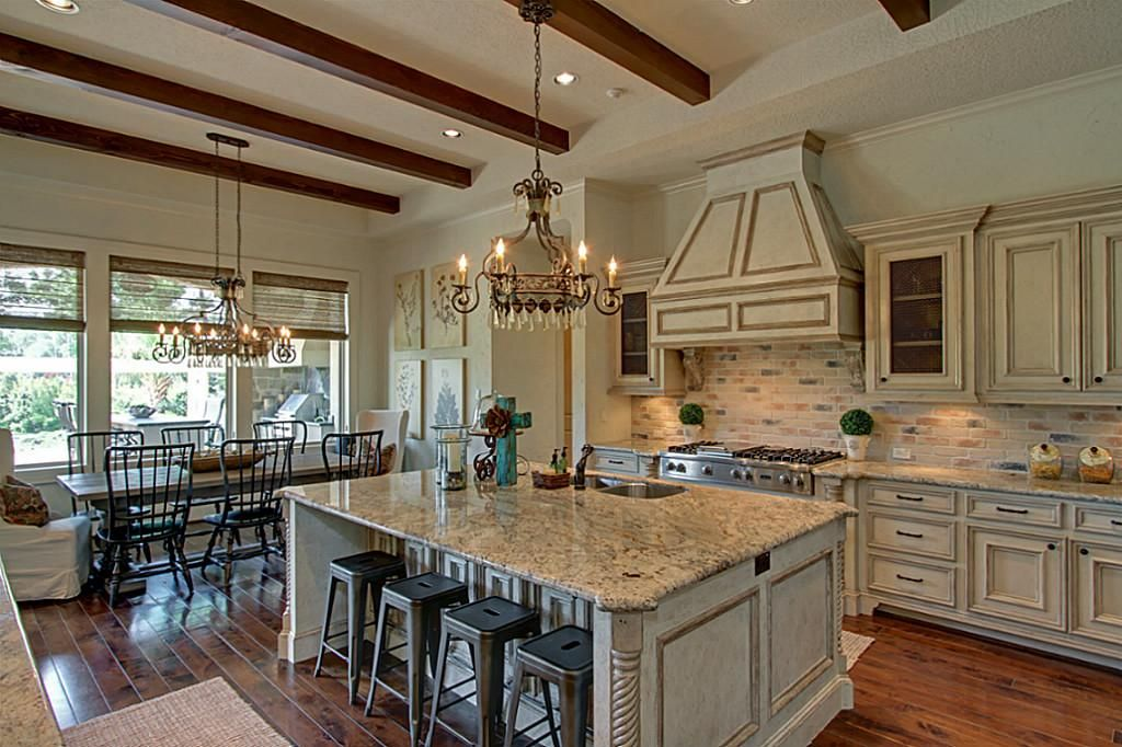 Open french country kitchen Home is where the heart is