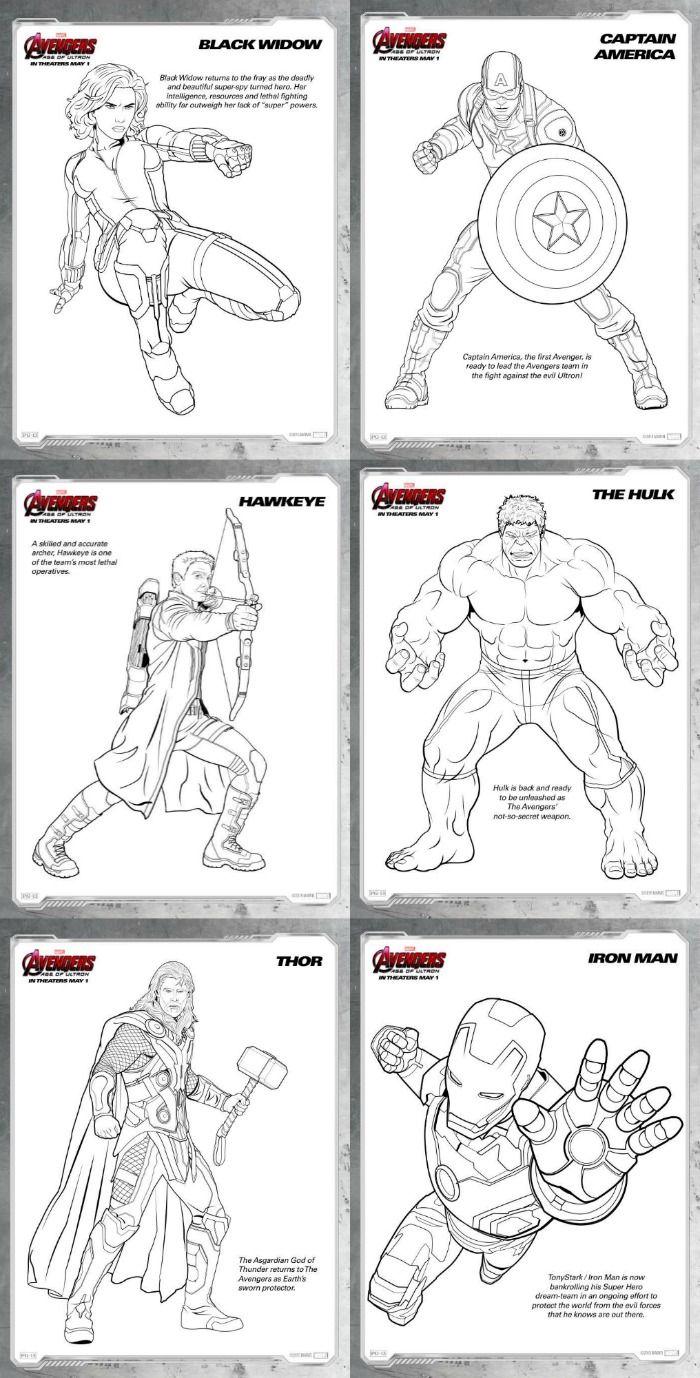 Moderno Coloring Pages Vengadores Edad De Ultron Ideas - Ideas Para ...