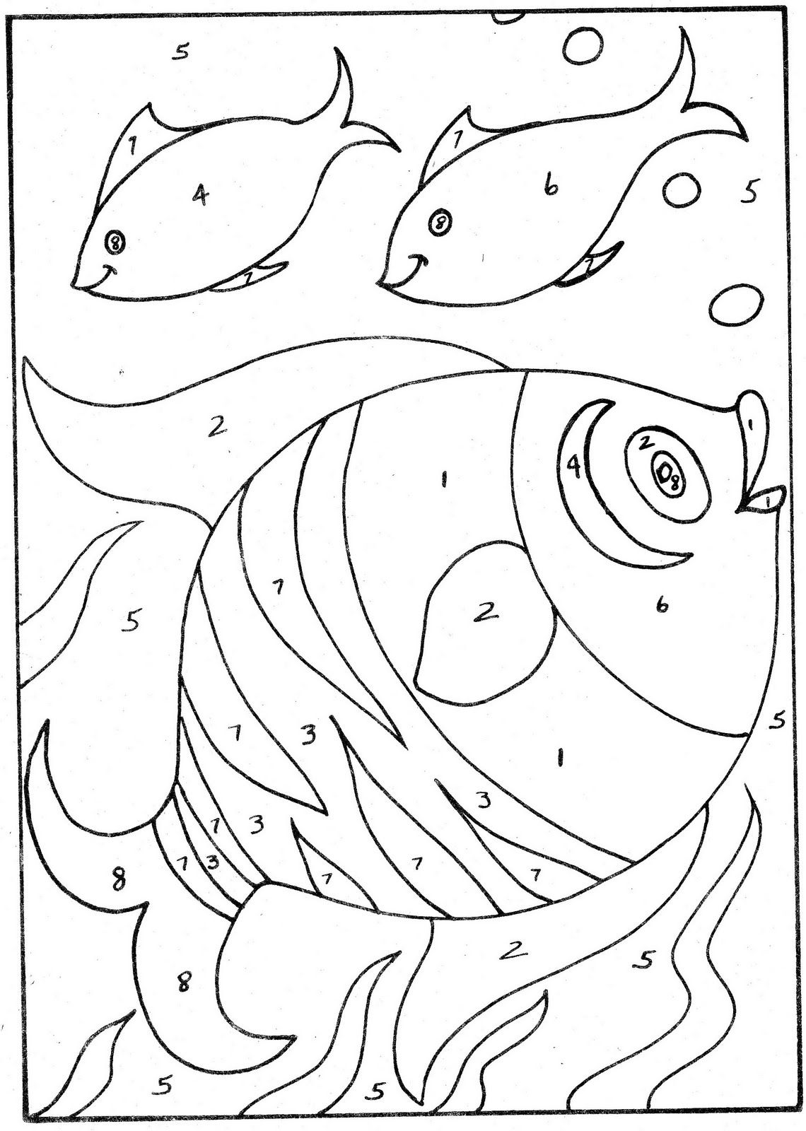 Coloring Pages For Kids Simple Color By Number Simple