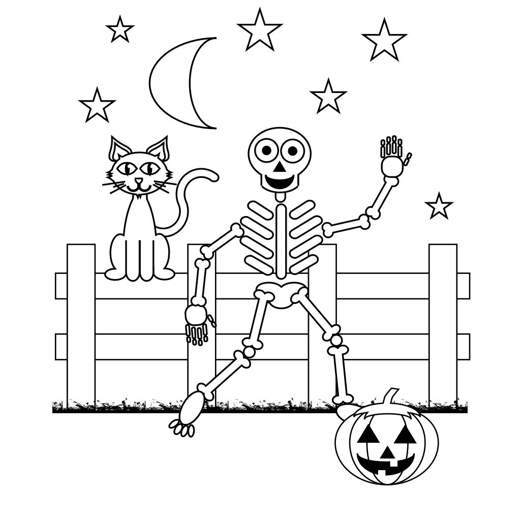 Free Skeleton Coloring Pages With Printable Skeleton