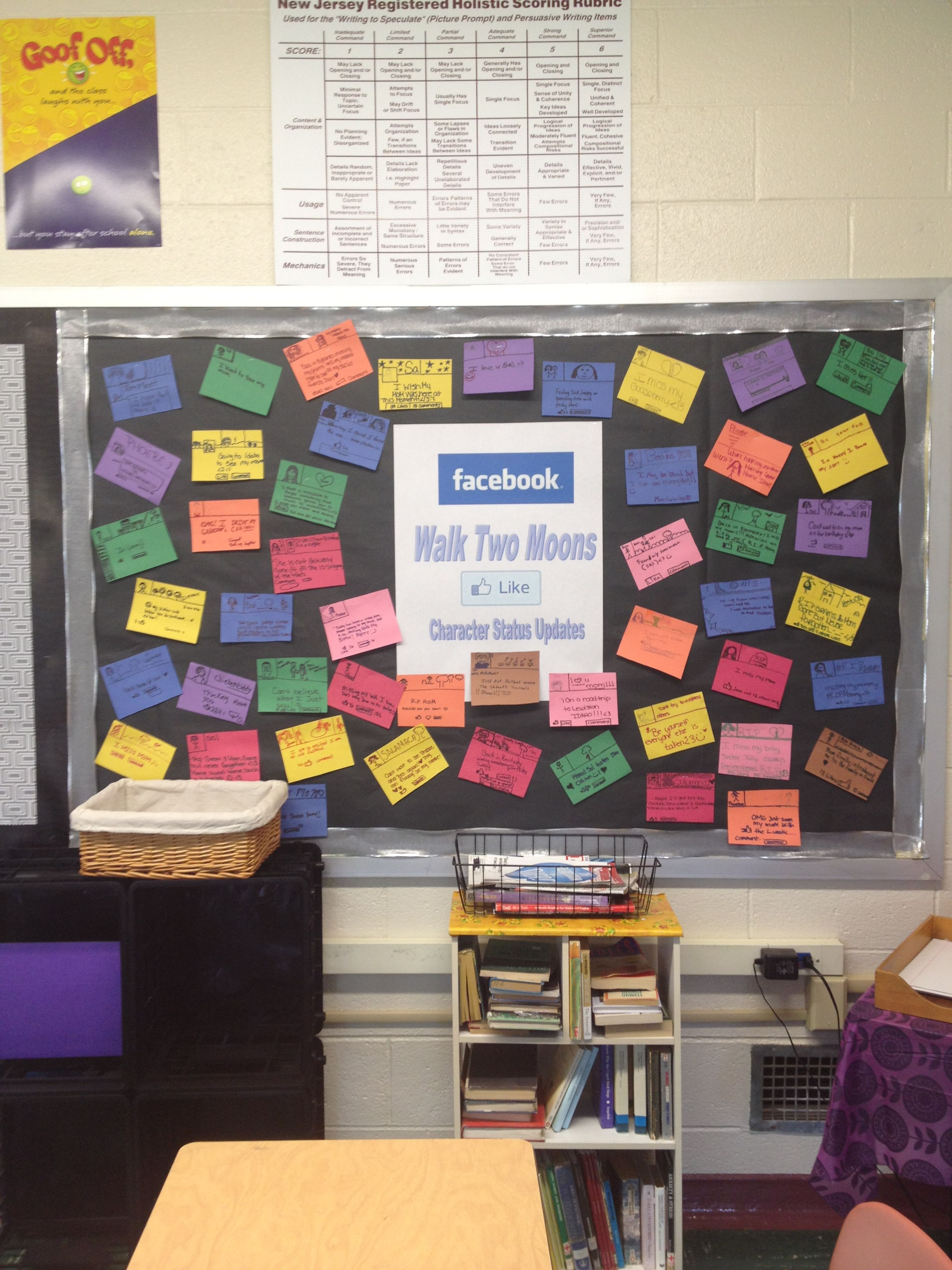 My Characterysis Bb For Walk Two Moons Students Loved Creating Status Updates For Their Fav