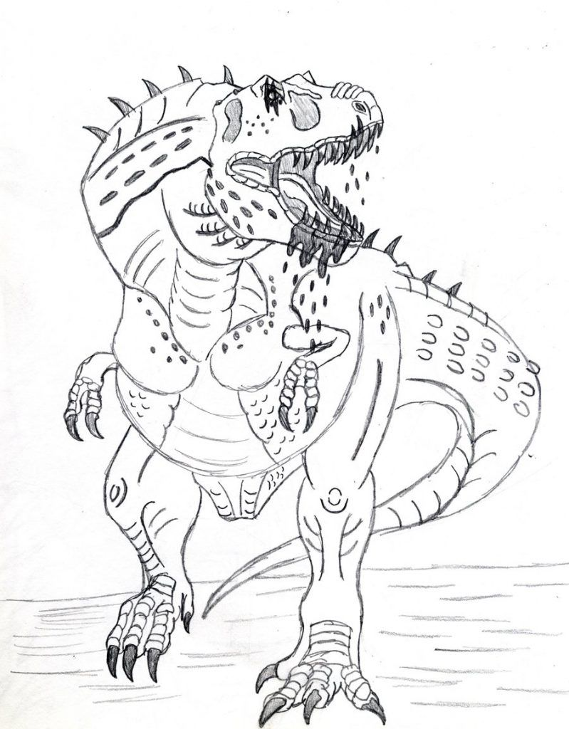 Coloring Page Dinosaur Croitorie Pinterest Free Printable