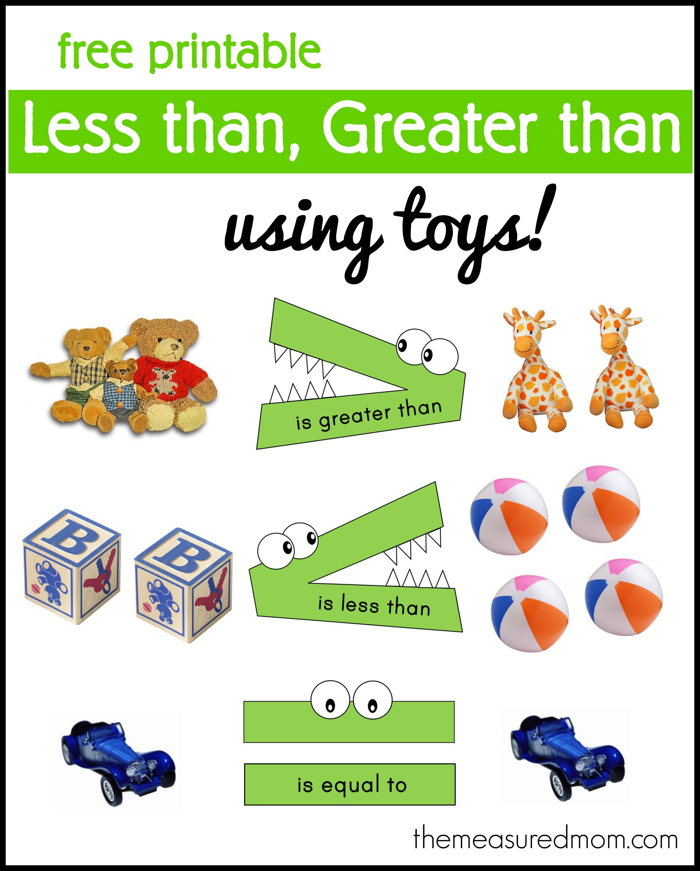 Less Than Greater Than Math Activity