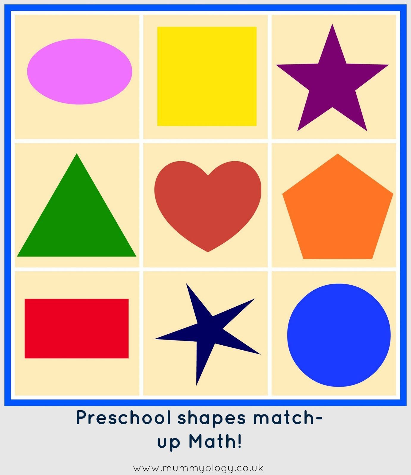 Preschool Shapes Math