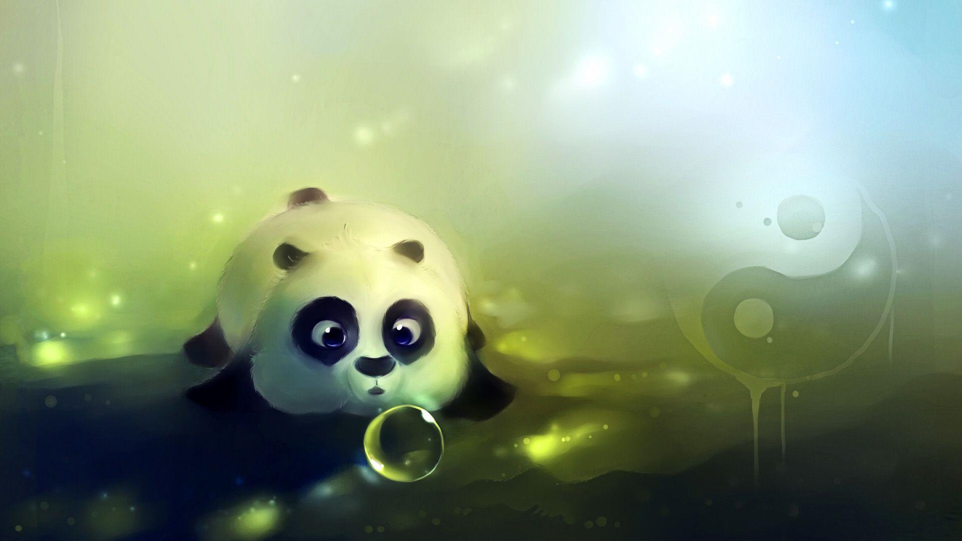 anime pandas in color Cute animated baby panda Anime