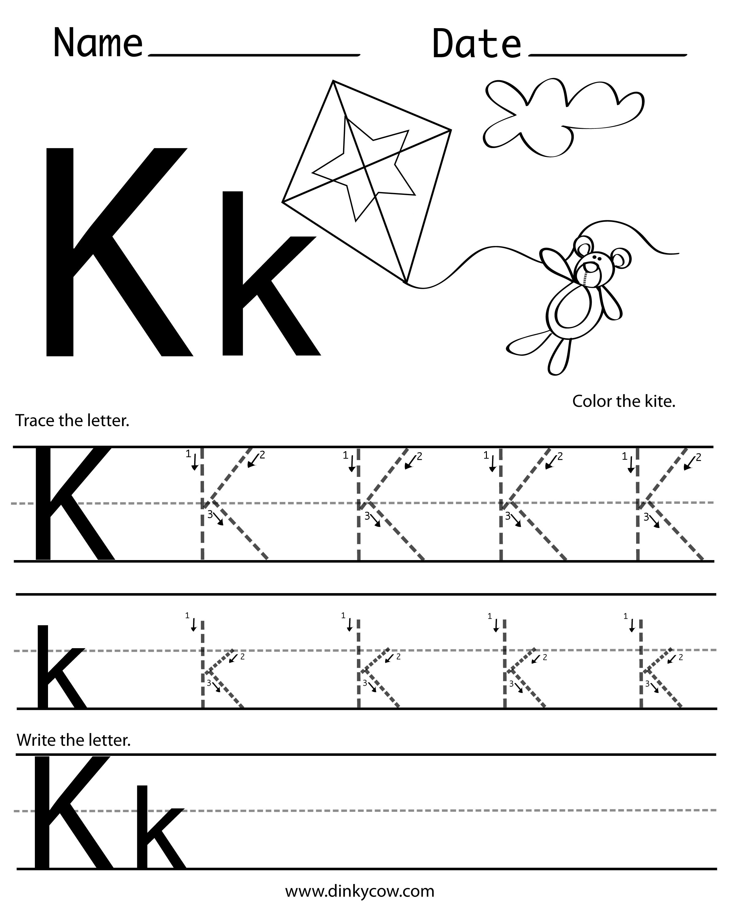 K Free Handwriting Worksheet Print 2 400 2 988 Pixels
