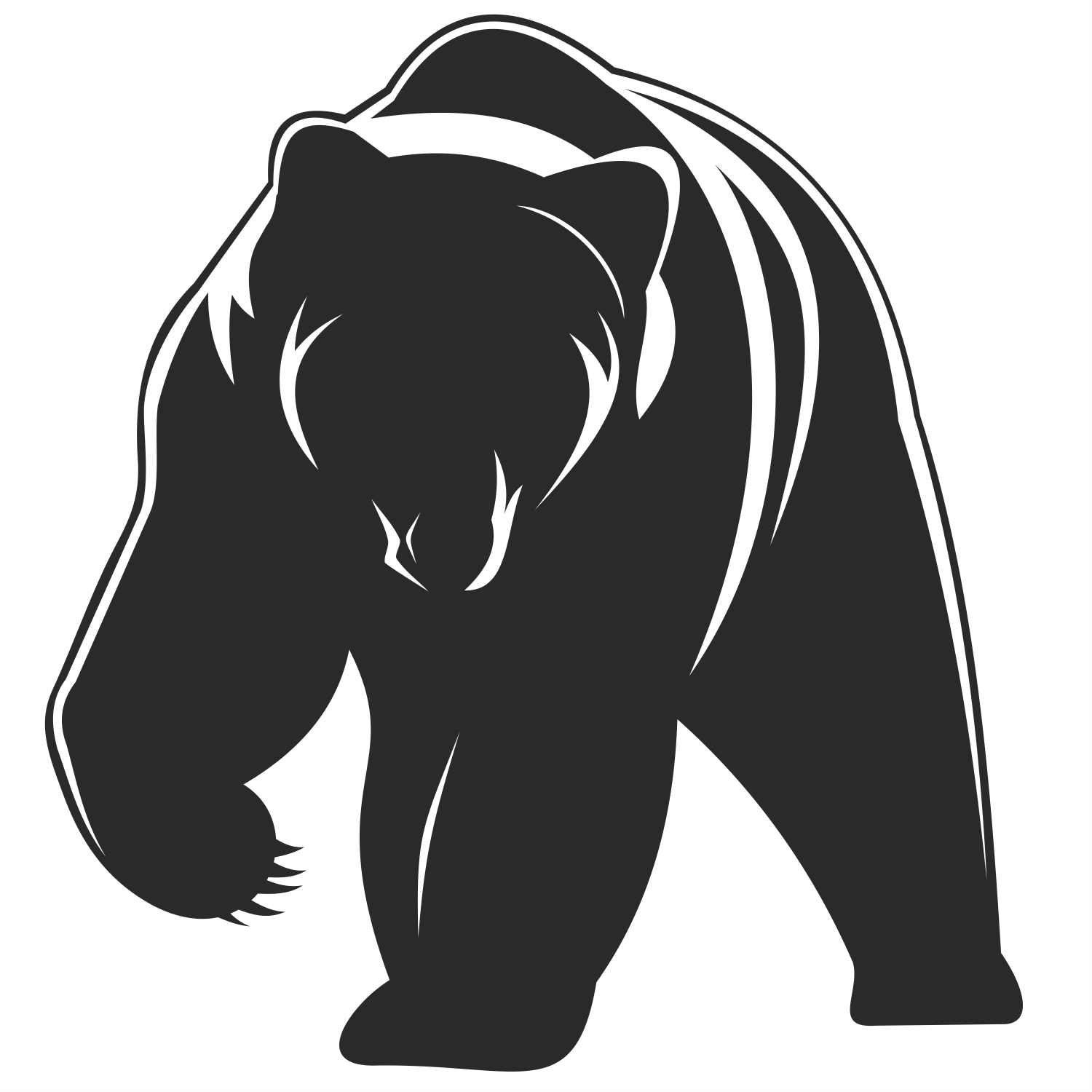 Pics For > Standing Grizzly Bear Vector bears