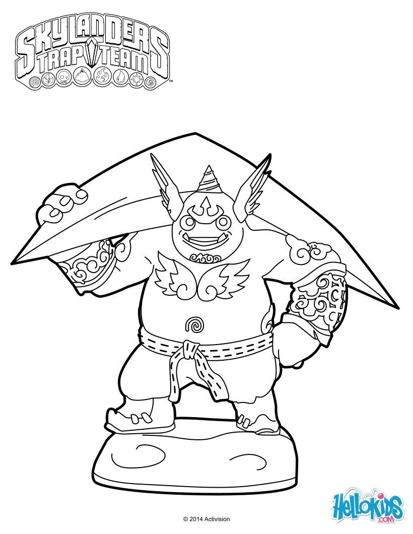 Gusto Coloring Page From Skylanders Trap Team More Video Games