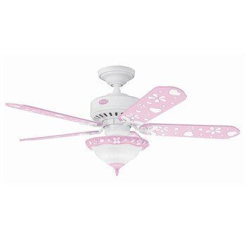 attractive design of kids ceiling fans: childrens pink ceiling fan