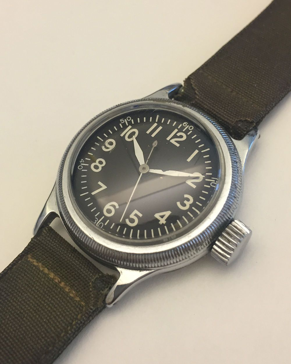 Vintage Elgin A11 Military Watch WWII Military