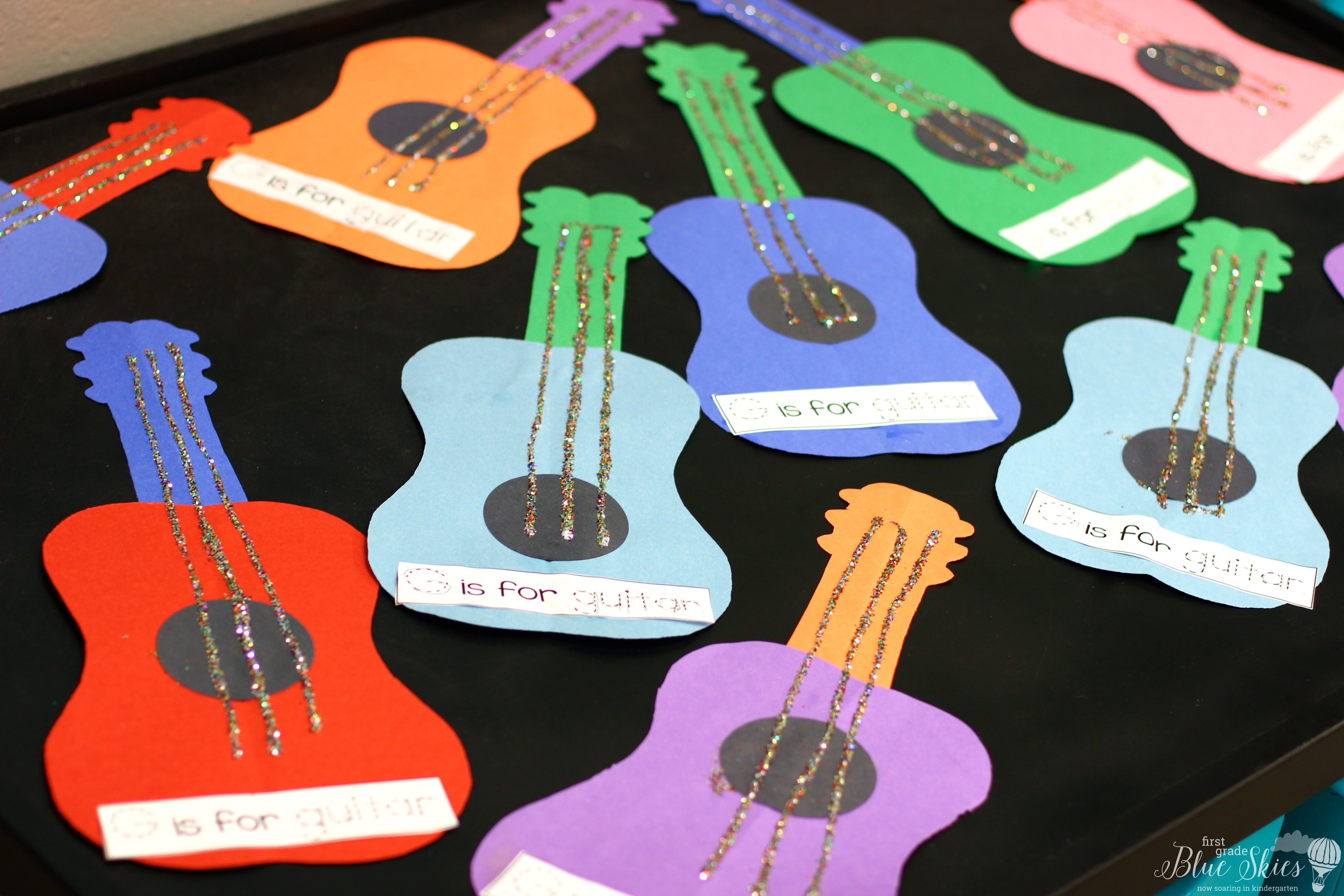 G Is For Guitar Letter Craft Ideas
