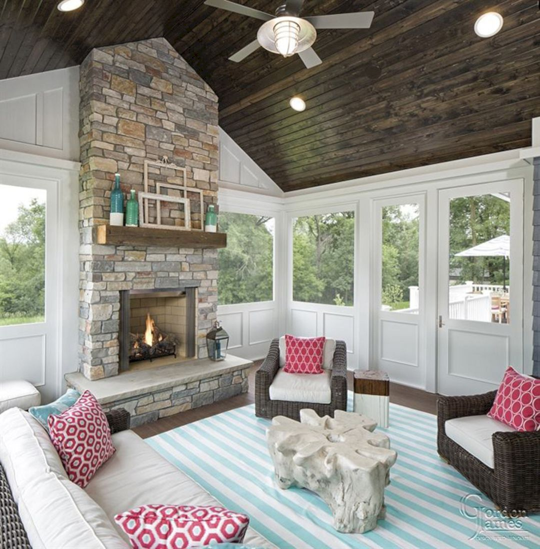 Wonderful Screened In Porch And Deck Idea 58 Porch