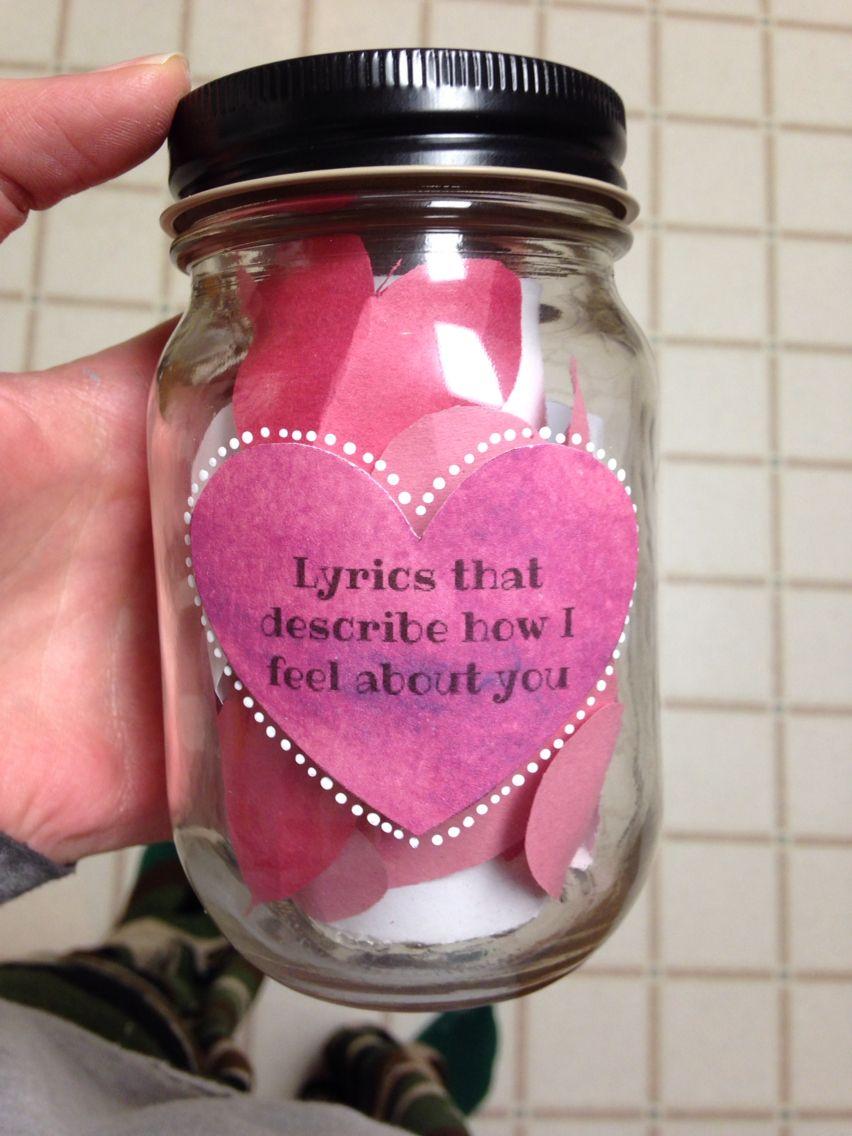 Lyrics that describe how I feel about you Mason Jar DIY