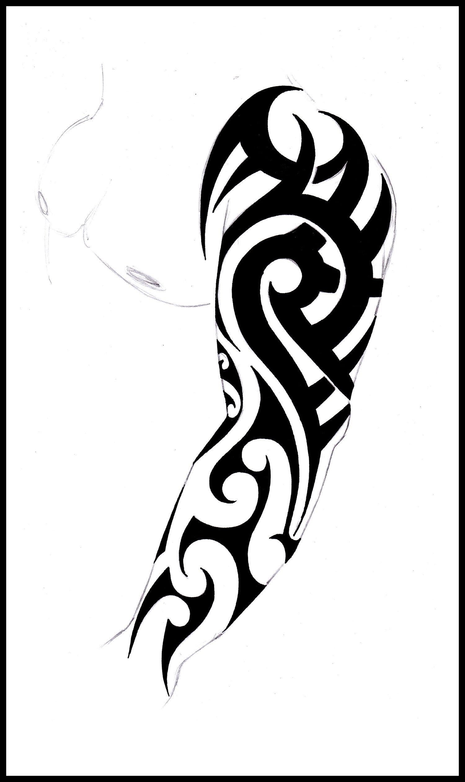 Tribal Sleeve Tattoo Stencil Tribal Full Sleeve Design