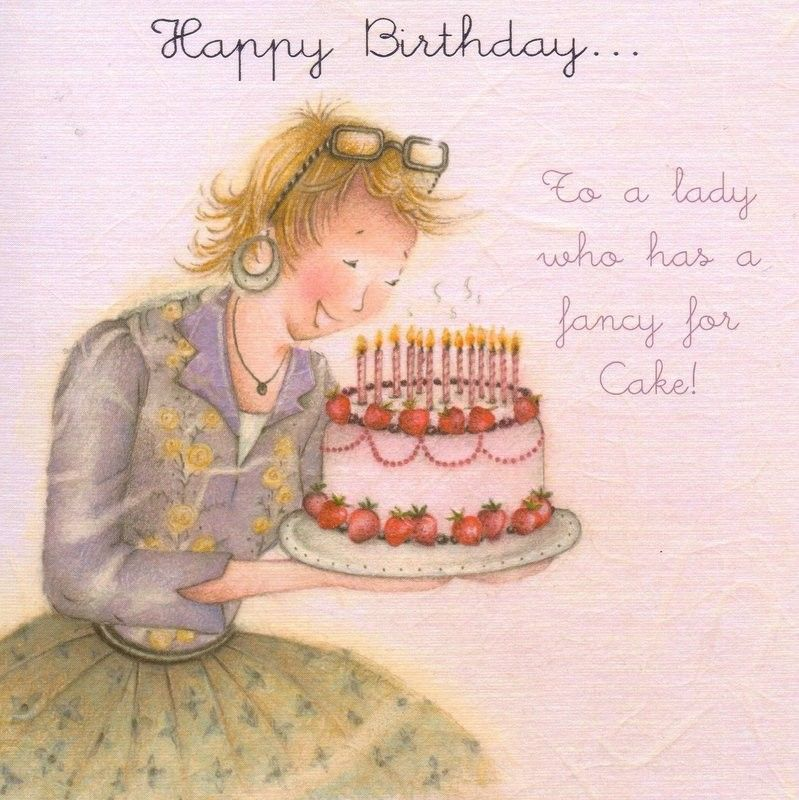 Happy Birthday To A Lady Who Has A Fancy For Cakes Card