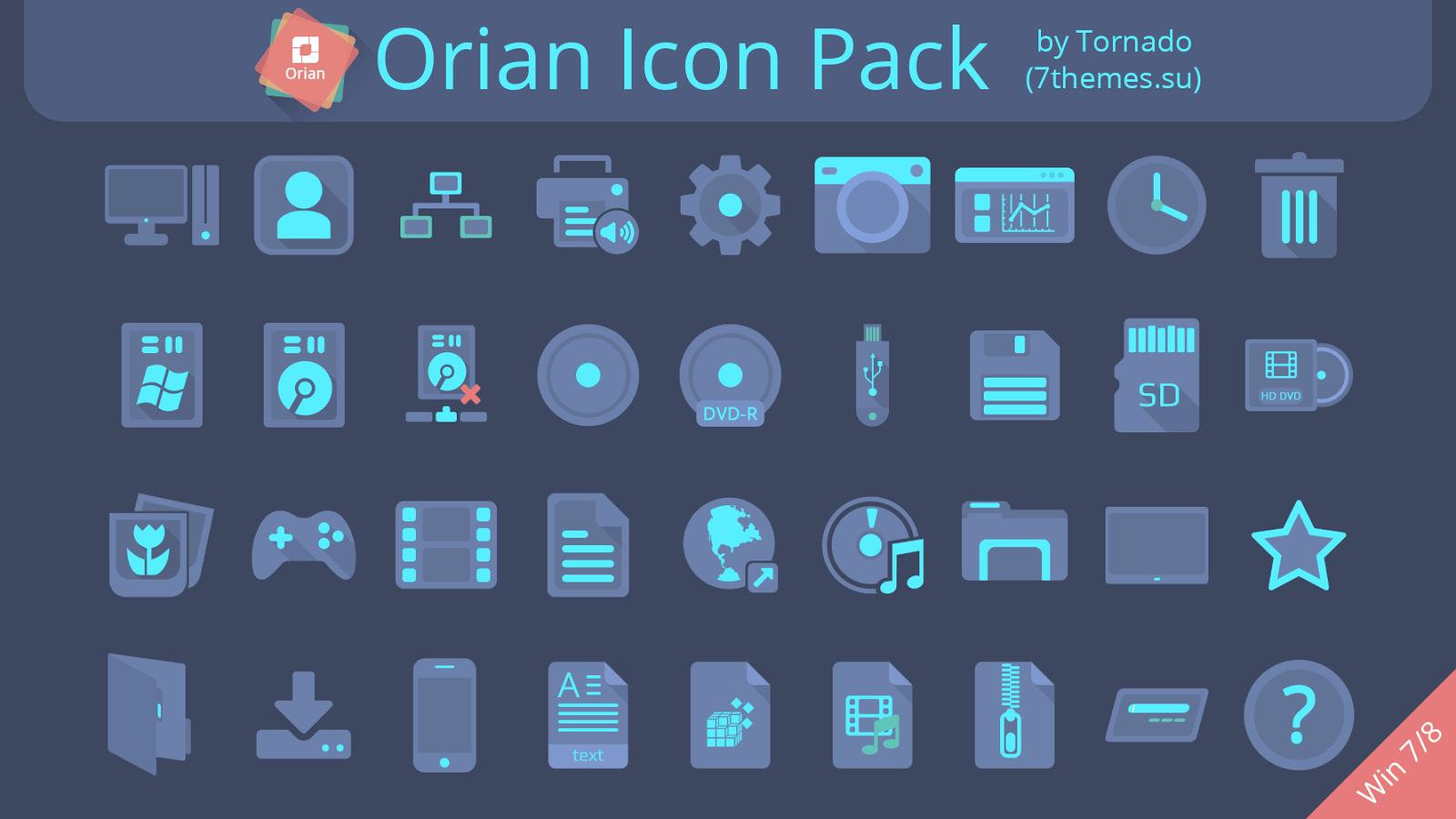 Orian Icon Pack 7tsp installer Cleodesktop Mod Desktop