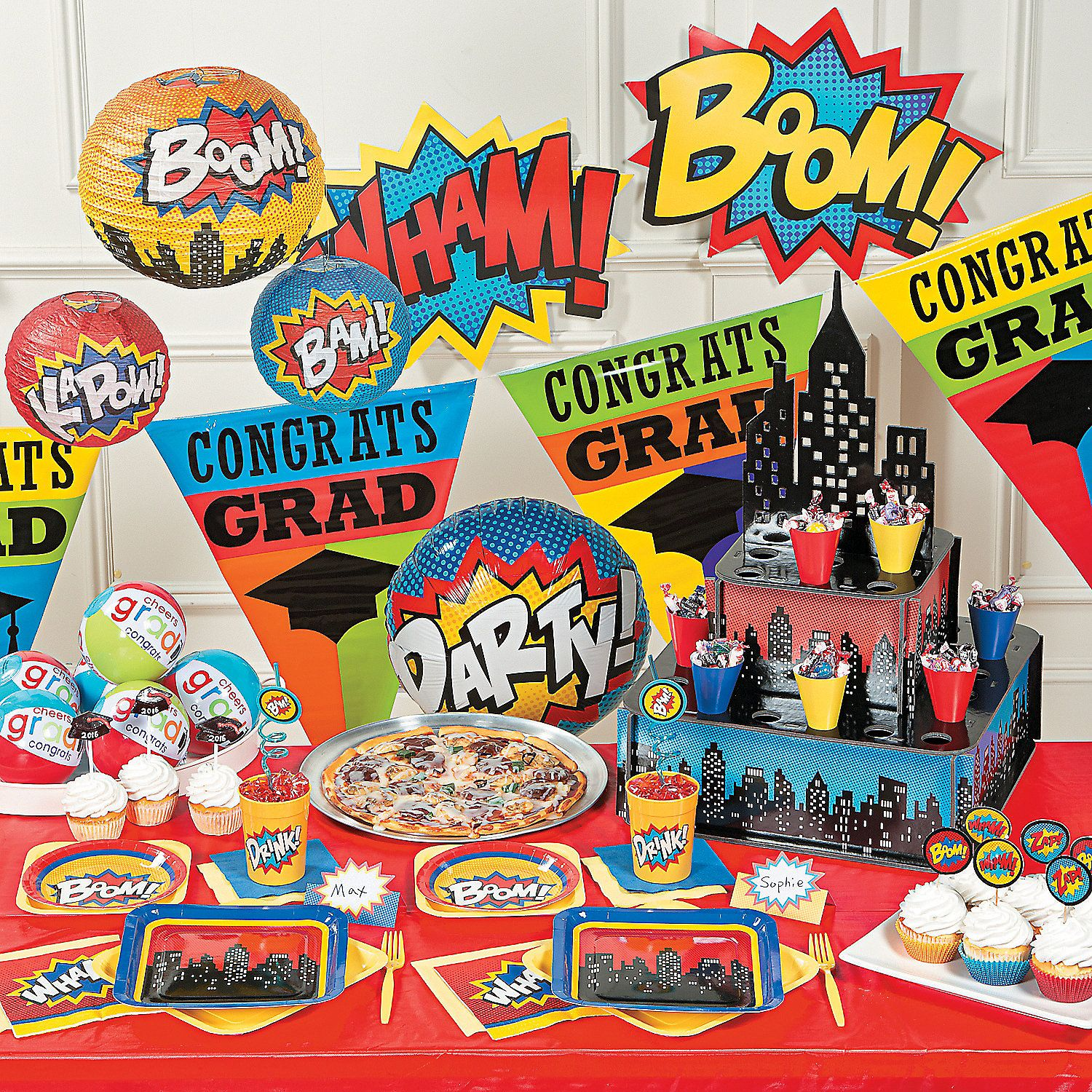 Superhero Graduation Party Supplies Orientaltrading