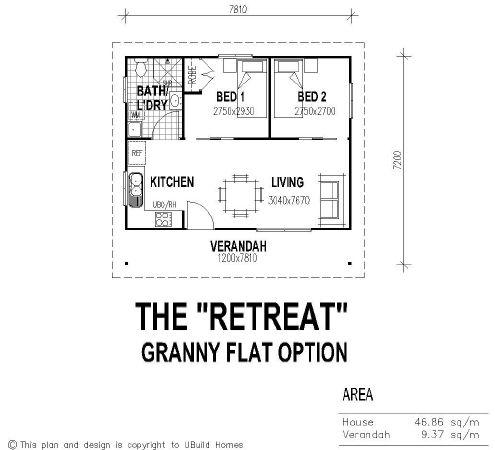 Tiny House Single Floor Plans 2 Bedrooms Ubuild Designs Standard Bedroom Granny Flat