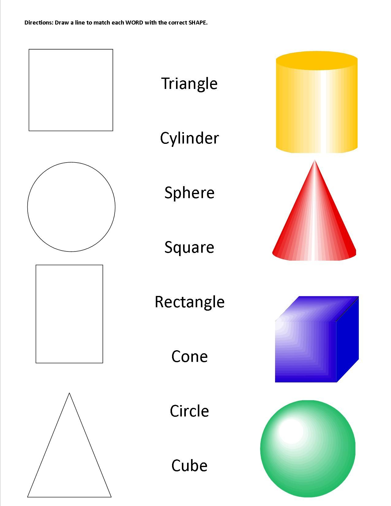 Geometric Shapes Amp Solids Worksheet