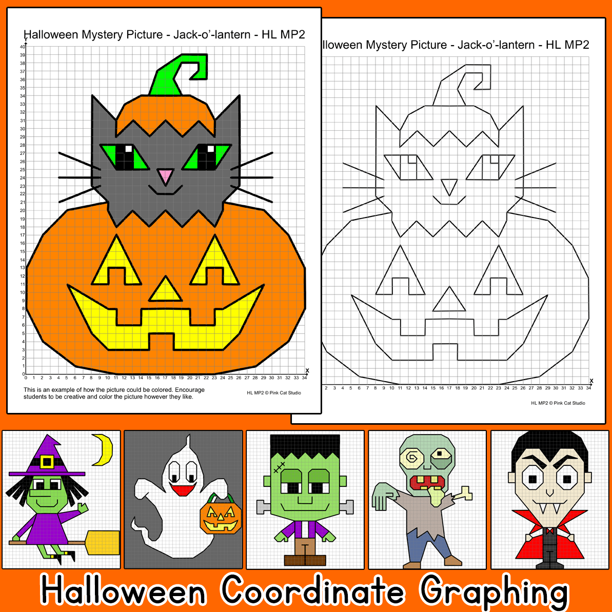 Practice Plotting Ordered Pairs With These Fun Halloween Theme Coordinate Graphing Mystery