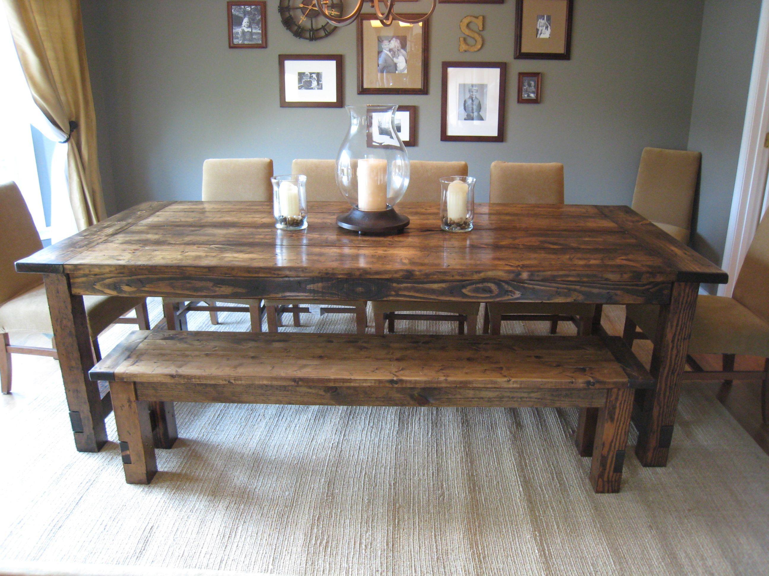 Restoration Hardware Farmhouse Table Replica. They made it