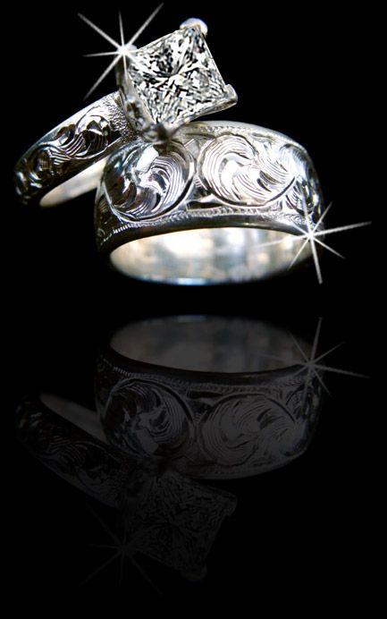 Western Wedding Rings On Pinterest Western Wedding