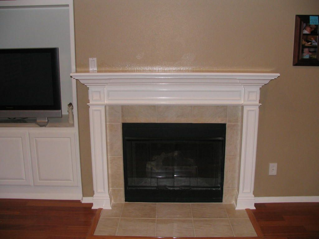 Gas Fireplace With Tv Designs Traditional