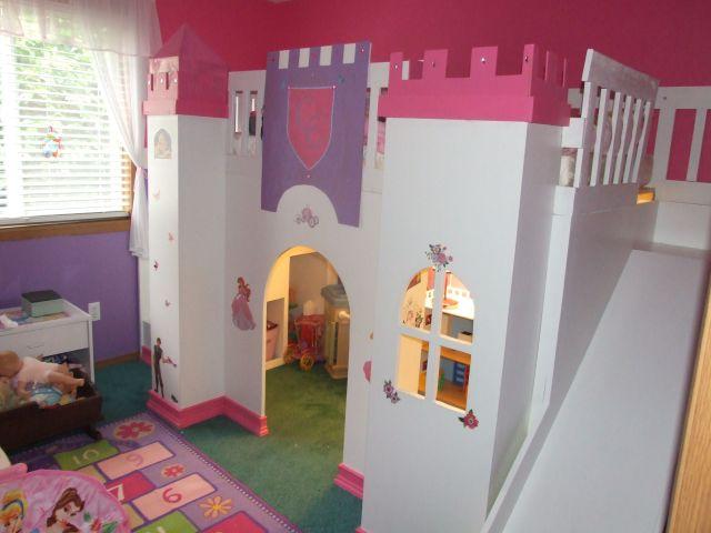 DIY Princess Play Loft Bed