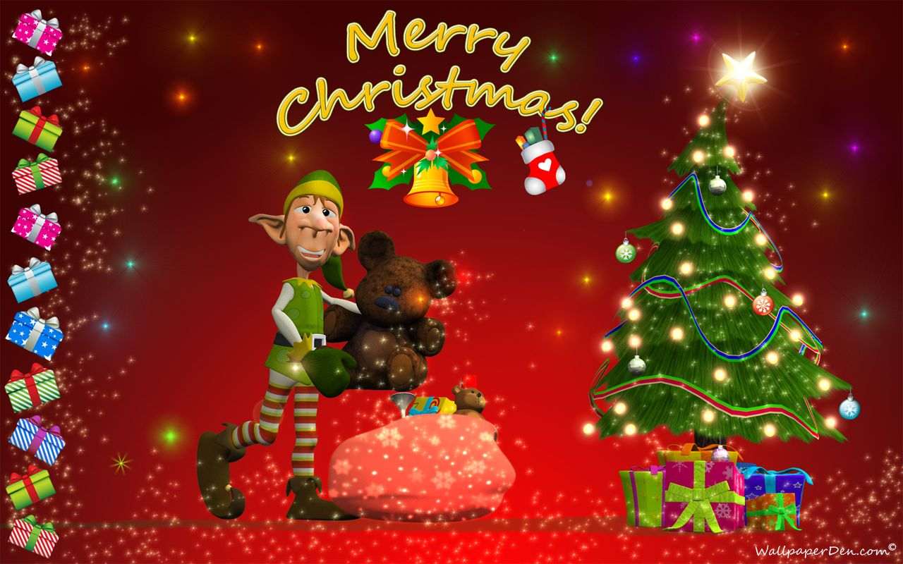 Free Merry Christmas Desktop Wallpaper Wallpaper