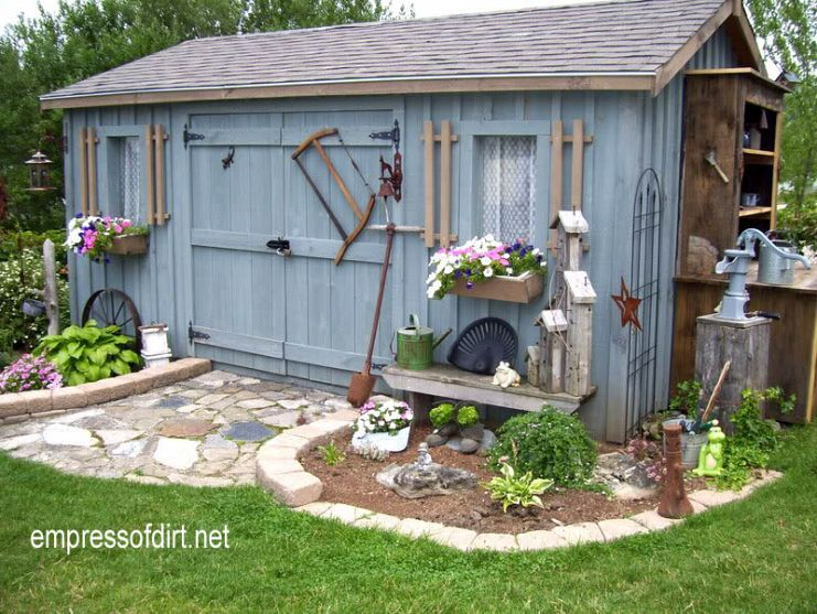 Is It Possible To Hoard Garden Sheds? Stone patios