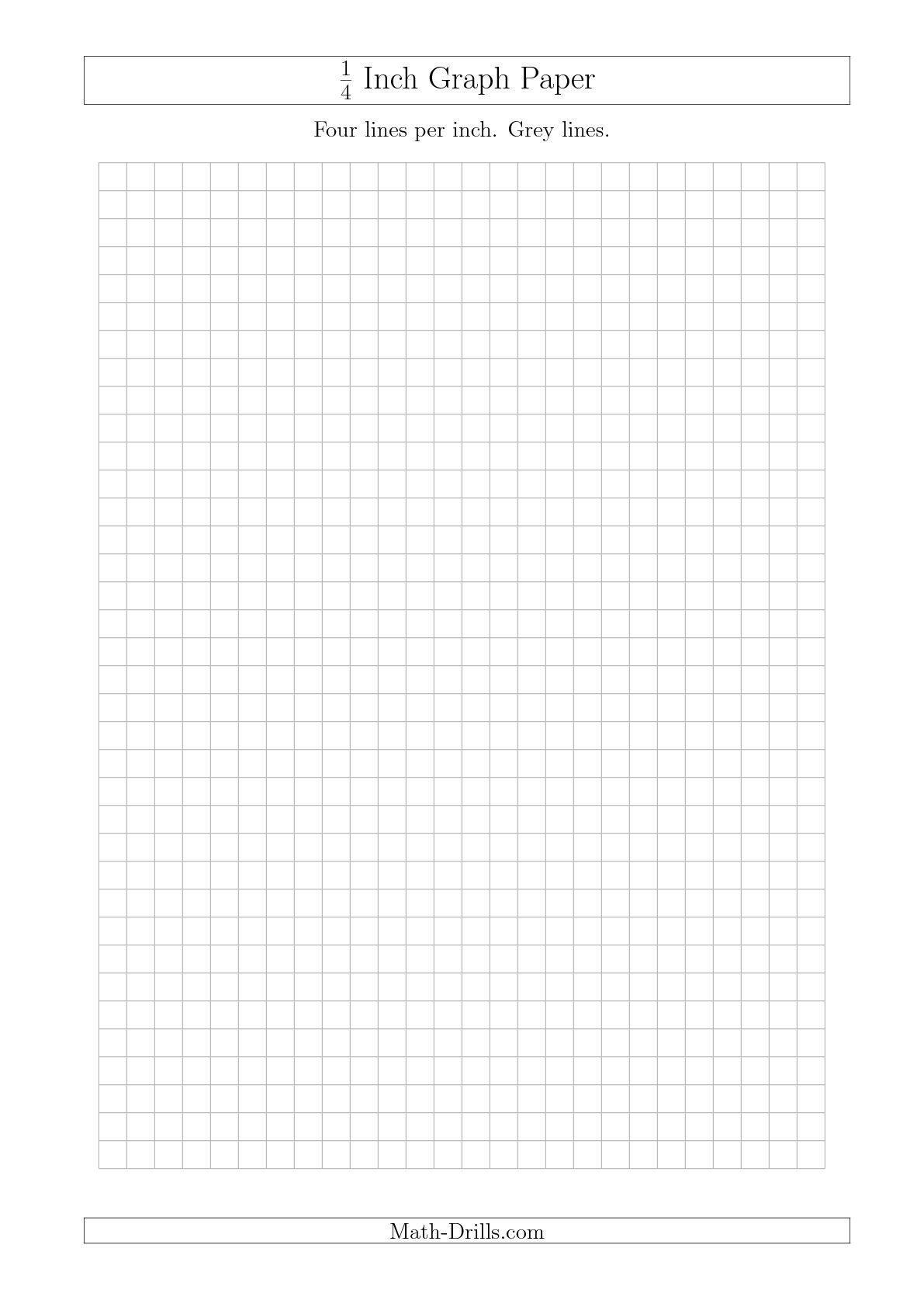New A4 Sizes With Imperial Measurements Like This One 1 4 Inch Graph Paper With Grey Lines A4
