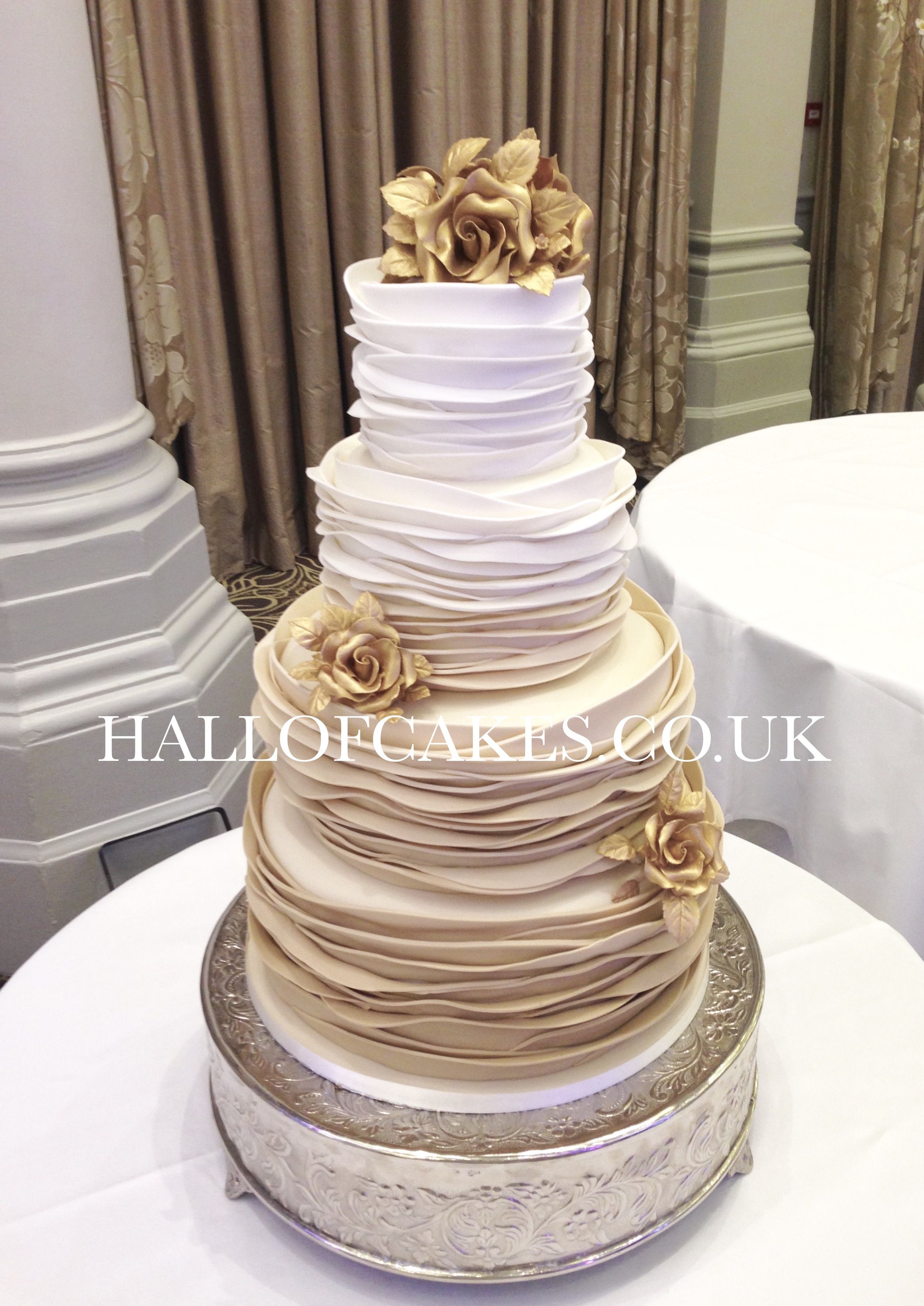 Beautiful Gold Ombre Wedding Cakes By Hall Of Cakes