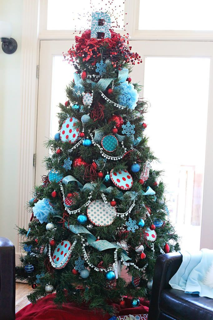 RED & TURQUOISE CHRISTMAS DECORATING IDEAS Playrooms