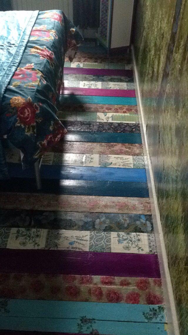 Decoupage Floor Decor Pinterest Decoupage House And