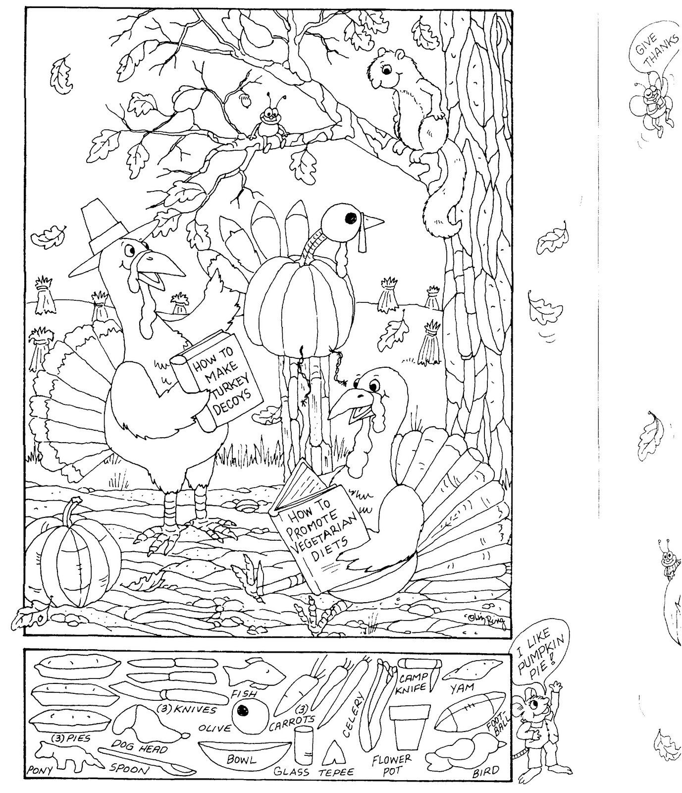 Hidden Pictures Publishing Coloring Page And Hidden