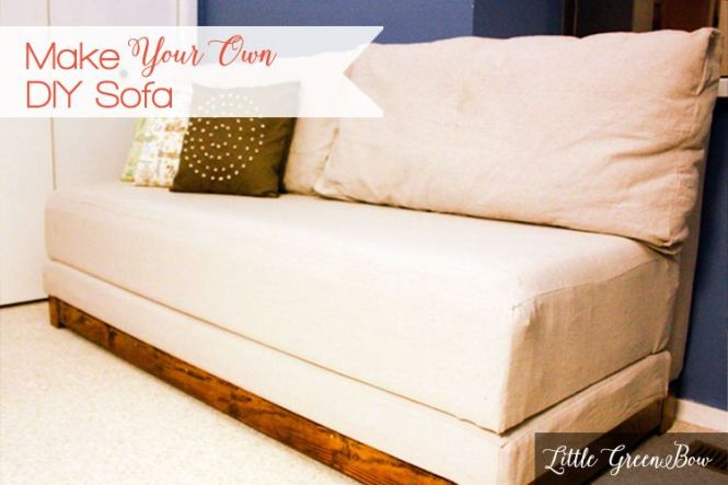 How To Make Your Own Couch And Diy Sofa Bed Pinterest