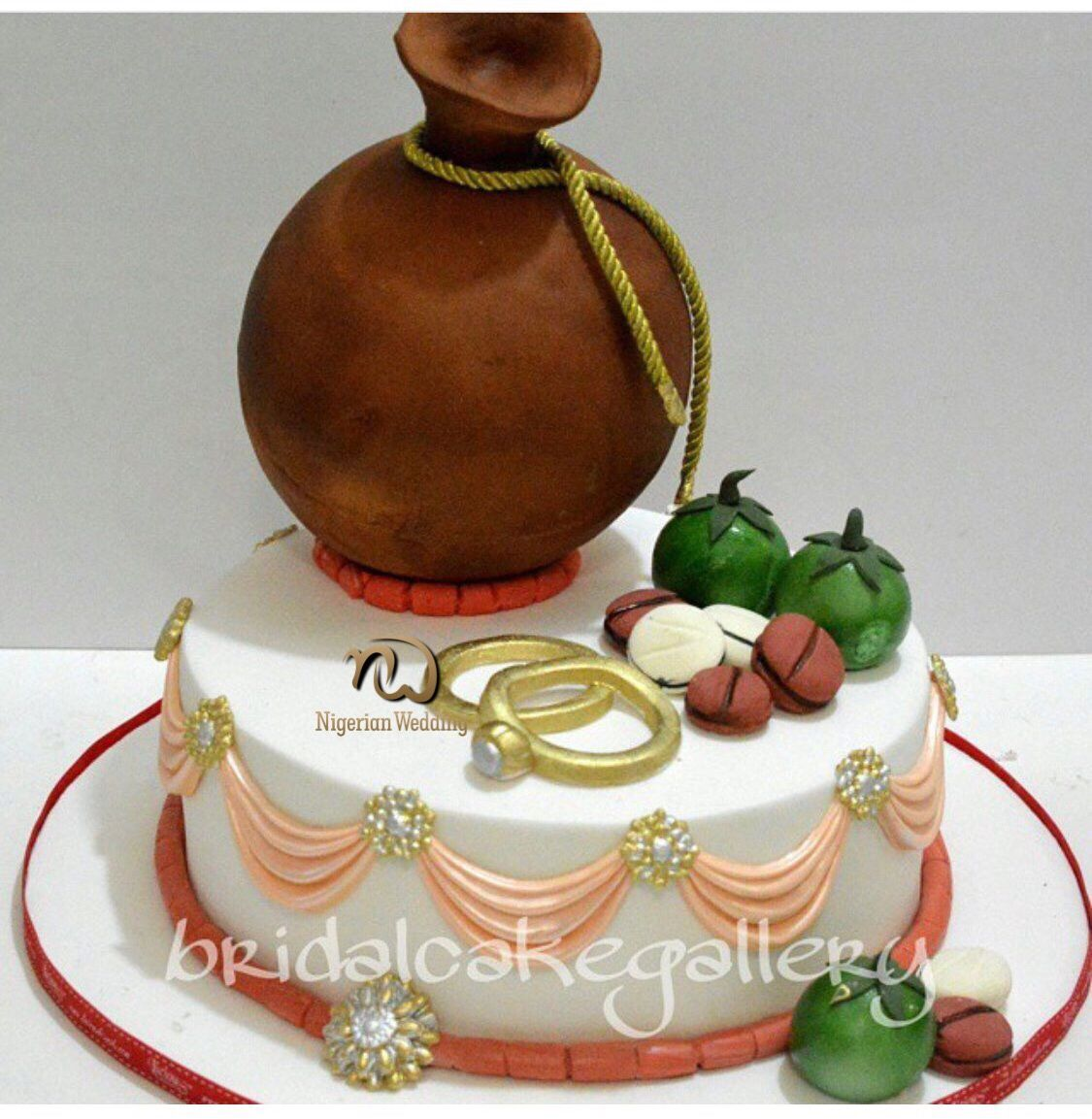 Nigerian traditional wedding cake designs Simple and