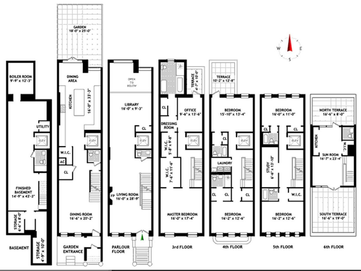 New York Townhouse Floor Plans Uk Nyc Mhargitay Ny